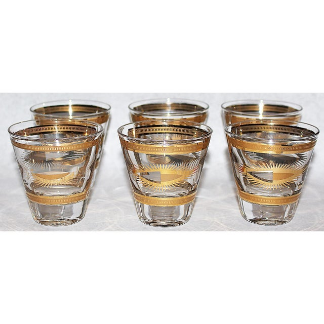 Fred Press Gilded Double Shot Glasses - Set of 6 - Image 3 of 6
