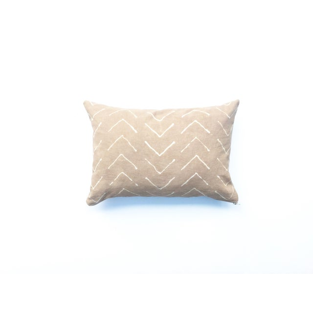 Hand-Dyed Beige Tribal Pillow Cover - Image 2 of 5