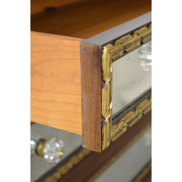 EJ Victor Julia Gray Collection Mirrored Louis XVI Style Chest Commode For Sale - Image 9 of 10
