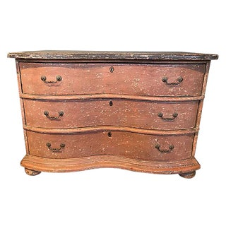 French Painted Serpentine Commode For Sale