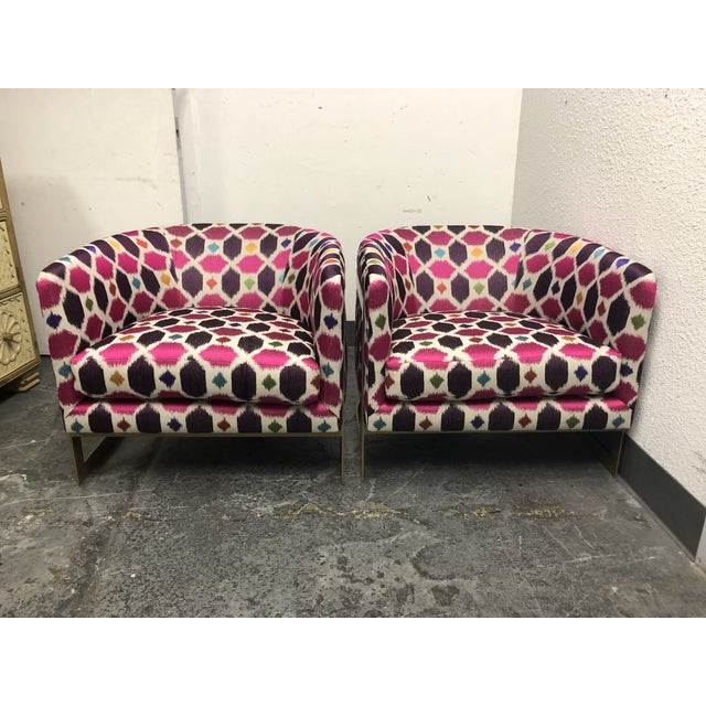 Nathan Anthony Korz Chair by Tina Nicole + Kravet Fabric - a Pair For Sale - Image 13 of 13
