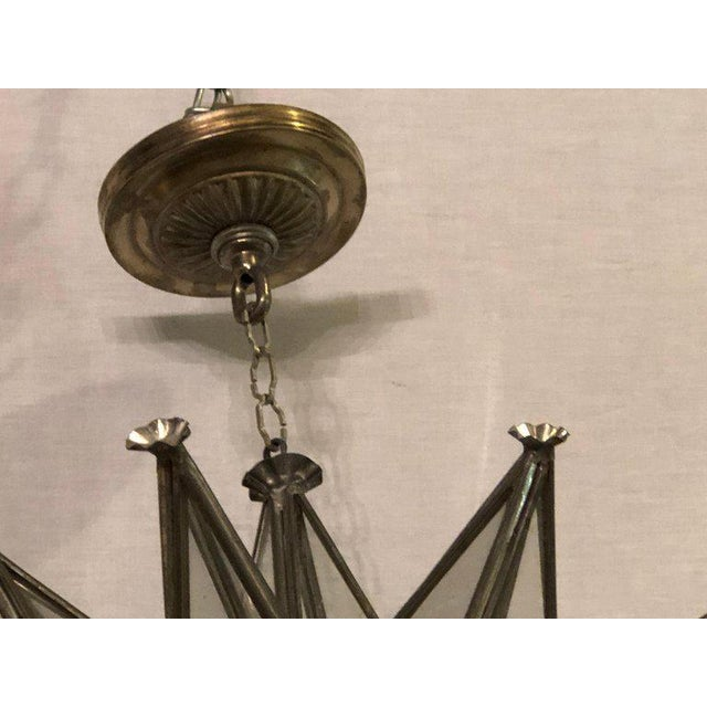 Pair of Sputnik Star Light Fixtures Lead Glass Art Deco Style Not Wired For Sale - Image 10 of 13