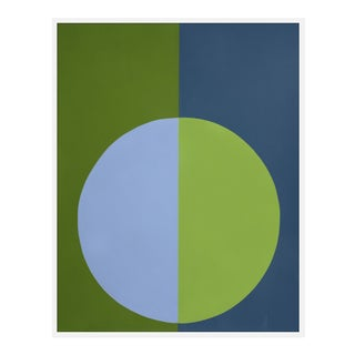 "Large ""Blue and Green Forever"" Print by Stephanie Henderson, 41"" X 51"" For Sale"