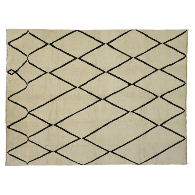 Contemporary Moroccan Area Rug With Modern Style - 10'02 X 13'05 For Sale - Image 10 of 10