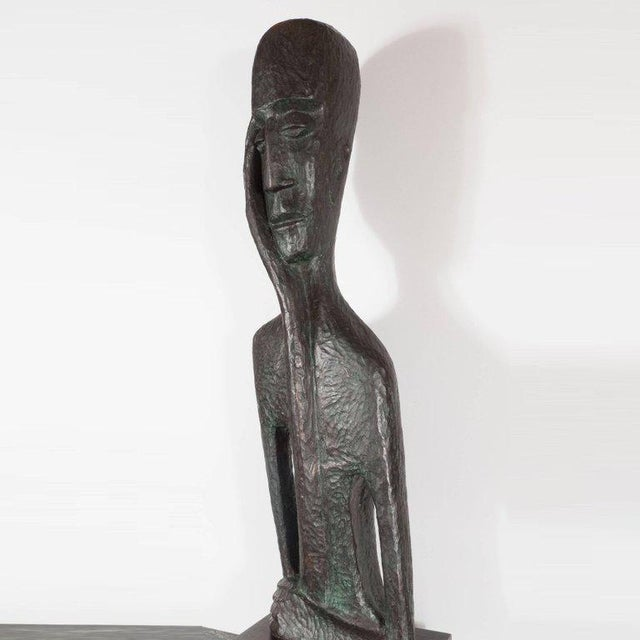 This impressive bronze sculpture was obtained in Israel by a prominent American collector, circa 1975. It presents a...