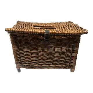 Vintage English Fish Basket For Sale