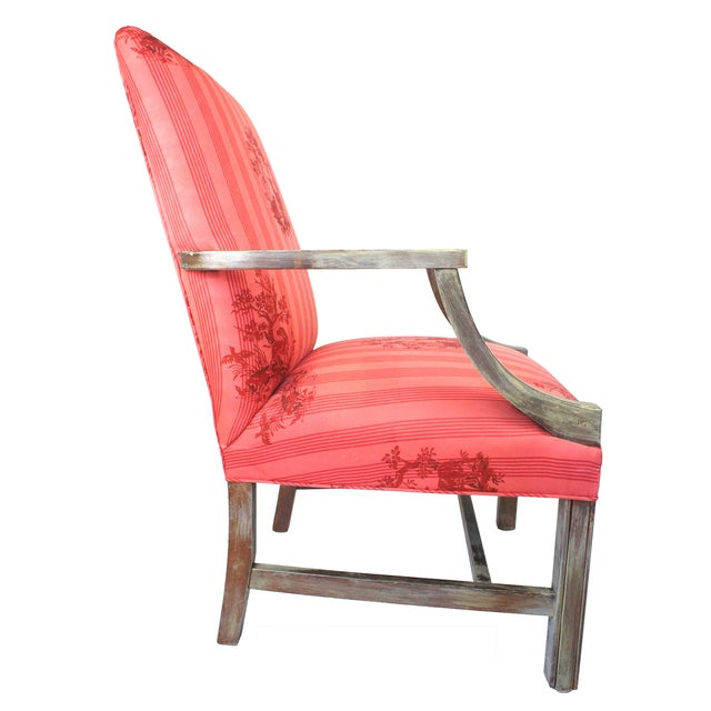 Federal Lolling Style Pink Chairs - A Pair - Image 3 of 5