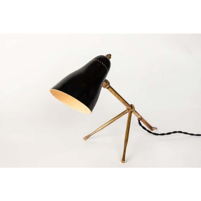 "Metal 1950s Giuseppe Ostuni ""Ochetta"" Wall or Table Lamp for O-Luce For Sale - Image 7 of 13"