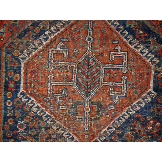 1910s Antique Persian Shiraz Rug - 3′9″ × 5′ - Image 4 of 11
