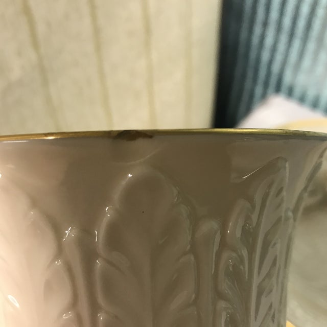 Vitntage 1940s Lenox Off White With 24k Gold Trim Flared Top Vase