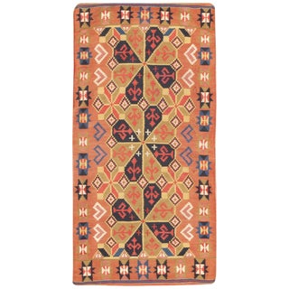 Small Vintage Swedish Kilim Scatter Rug - 1′11″ × 3′6″ For Sale