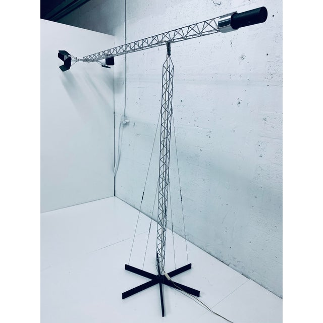 Mid-Century Modern Original Curtis Jere Crane Floor Lamp, 1970s For Sale - Image 3 of 13
