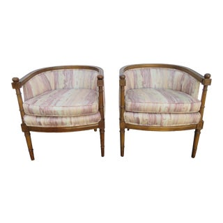 Hollywood Regency Burl Shape Pair of Side Chairs For Sale