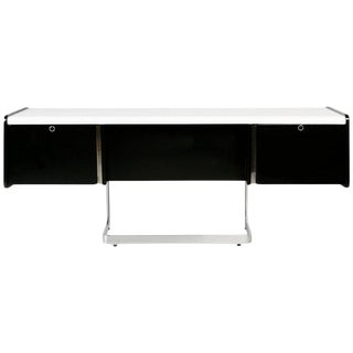 Ste. Marie & Laurent Chrome Cantilever Desk Credenza, Newly Restored, Circa 1960 For Sale