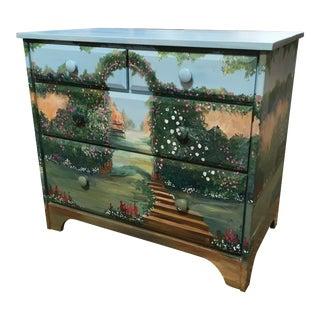 Handpainted Four Drawer Dresser