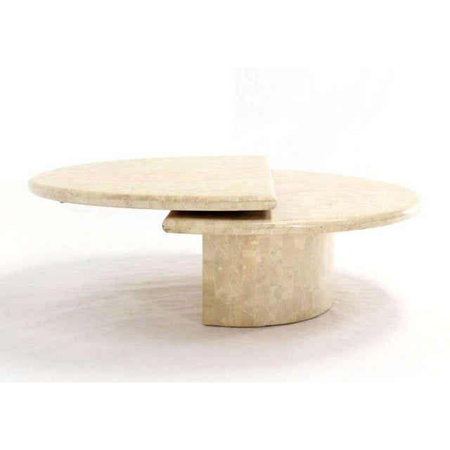 Revolving Expandable Tessellated-Top Round Coffee Table For Sale - Image 10 of 10