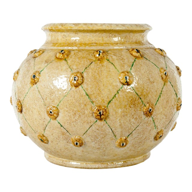 Mid-Century Dolfi Glazed Ceramic Planter For Sale