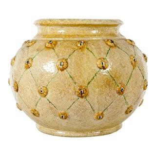Mid Century Dolfi Glazed Ceramic Planter/ Piece