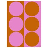 """Image of Dynamic Pair Pink and Amber Fine Art Print 21.25"""" X 30"""" by Liz Roache For Sale"""