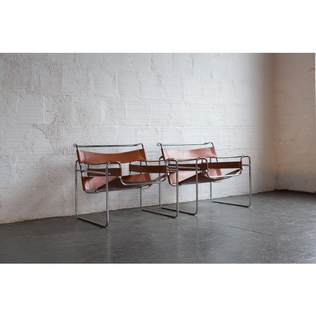 Wassily Marcel Breuer for Knoll Chairs - a Pair - Image 3 of 11