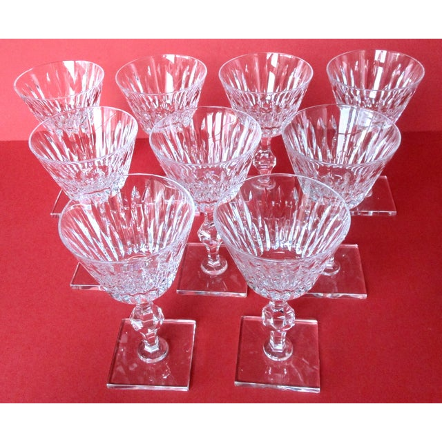 Glass Hawkes Champagne/Sherbet Crystal Stems - Set of 9 For Sale - Image 7 of 10