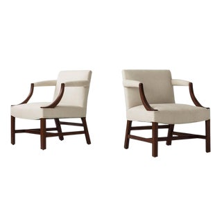 Edward Wormley Pair of Arm Chairs For Sale