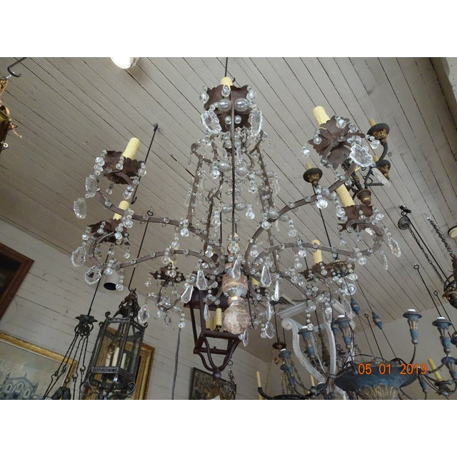 18th Century Italian Crystal Chandelier For Sale - Image 12 of 13