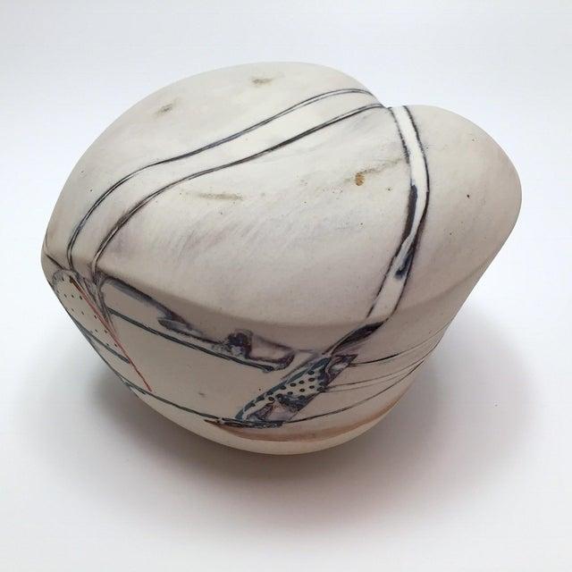 Late 20th Century Fine Art Contemporary Ceramic Vessel - Image 8 of 13