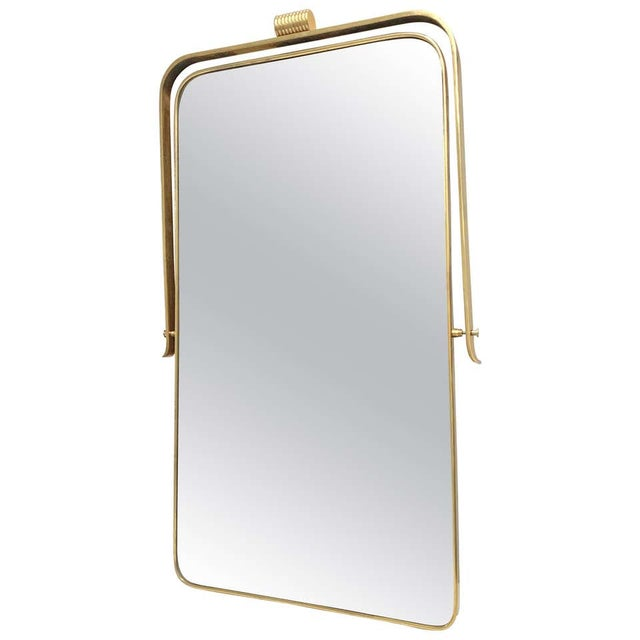 Circa 1950s Italian Brass Frame Mirror, Gio Ponti Attributed For Sale - Image 12 of 12