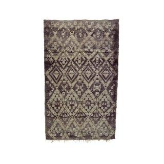 "Beni M'Guild Vintage Moroccan Wool Rug - 6'3"" X 9'10"" For Sale"