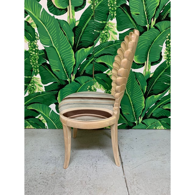 Italian Decorative Venetian Shell Back Dining Chairs, Set of 6 For Sale - Image 4 of 8