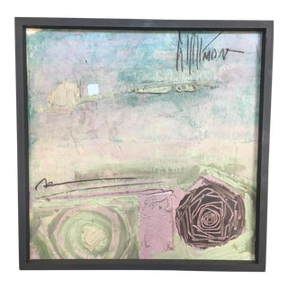 Graham Harmon 1960s Framed Abstract Painting For Sale