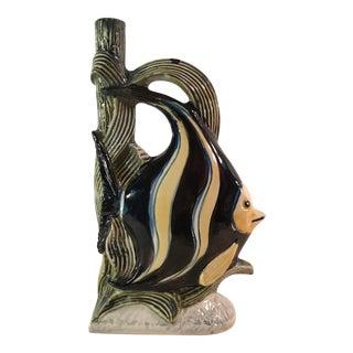 Mid-Century Italian Fish Bottle Vase For Sale