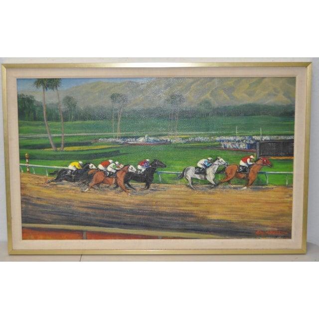 Keith Bright Quot Santa Anita Park Quot Original Oil Painting