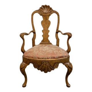Antique Carved Shell Fruitwood Chair For Sale