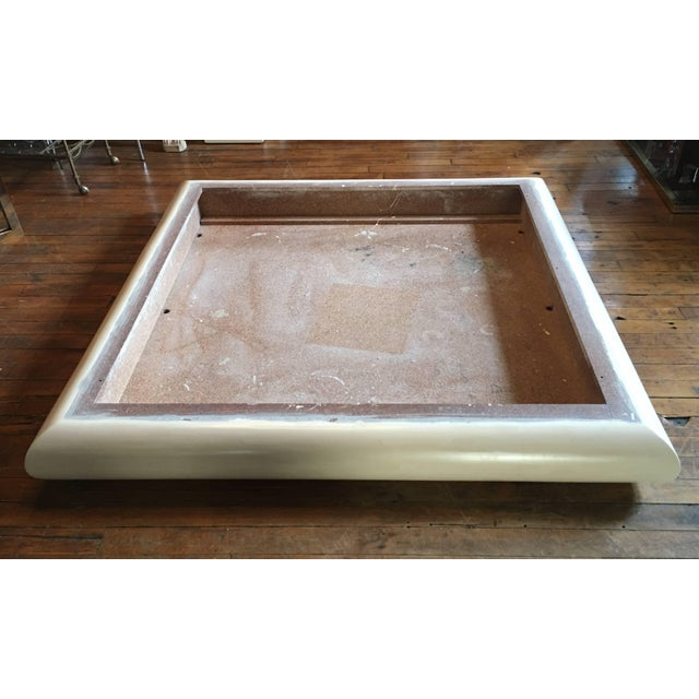 Monumental Karl Springer Style Bullnose Coffee Table, Tessellated Stone For Sale - Image 10 of 12