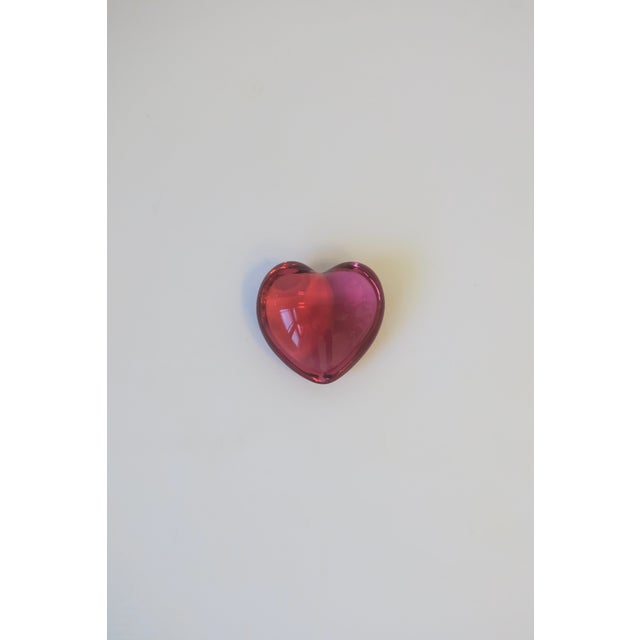Baccarat Pink Heart Paperweight or Decorative Object For Sale - Image 10 of 10