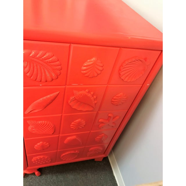 Custom Made Shell Motif Television Cabinet For Sale - Image 4 of 11