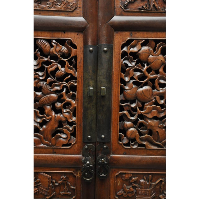 Antique Chinese Cabinet With Burl Wood Carving - Image 7 of 13 - Antique Chinese Cabinet With Burl Wood Carving Chairish