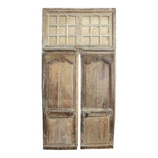 Pair of 18th Century Provençal Doors with Transom
