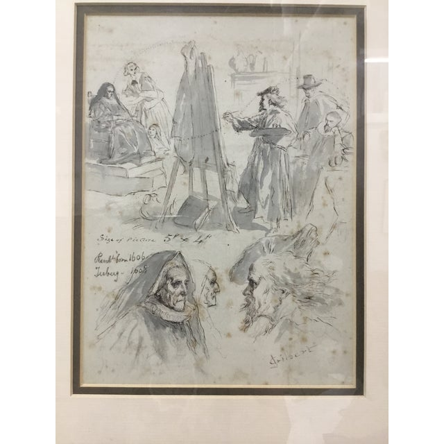 Illustration Original Pen and Ink Study Drawing by Sir John Gilbert For Sale - Image 3 of 11