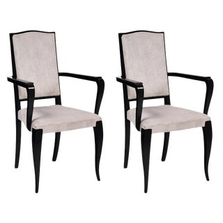 Art Deco French Bridge Armchairs - a Pair For Sale