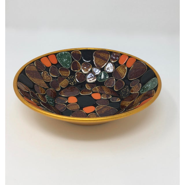 Asian Mid Century Modern Multi-Colored Mosaic Tile Bowl For Sale - Image 3 of 6