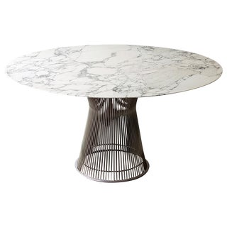 Platner for Knoll Arabescato Dining Table For Sale