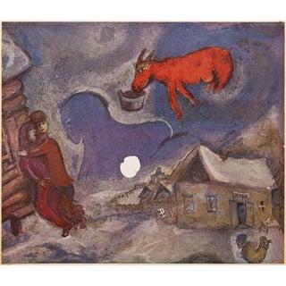 """1943 Marc Chagall Original """"Dans Mon Pays"""" Parisian Lithograph For Sale"""