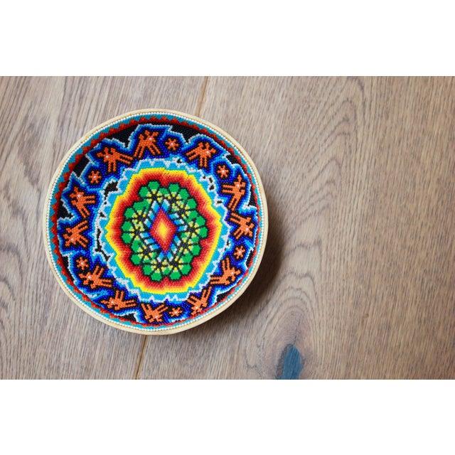 Huichol Ceremonial Beaded Bowl - Image 5 of 5