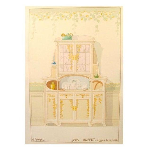 Vintage French Decorator Sheet Interior/Sideboard - Image 1 of 3