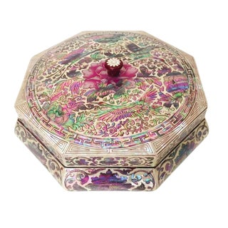 Vintage Chinoiserie Jewelry Box For Sale