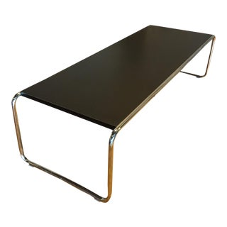 Black Laccio Coffee Table by Marcel Breuer for Knoll Studios For Sale