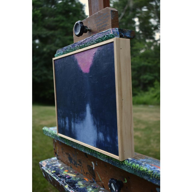 """Paint Stephen Remick """"Snowy Intersection at Dawn"""" Small Contemporary Painting For Sale - Image 7 of 12"""
